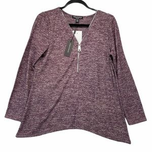 Cable & Gauge Half Zip Long Sleeve Pullover NWT